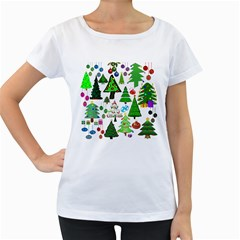 Oh Christmas Tree Women s Loose Fit T Shirt (white)