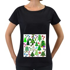 Oh Christmas Tree Women s Loose-Fit T-Shirt (Black)