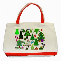 Oh Christmas Tree Classic Tote Bag (red)