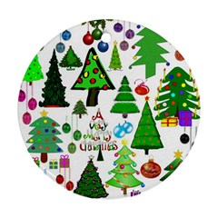 Oh Christmas Tree Round Ornament (two Sides)