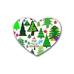 Oh Christmas Tree Drink Coasters 4 Pack (heart)