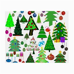 Oh Christmas Tree Glasses Cloth (small, Two Sided)
