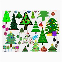 Oh Christmas Tree Glasses Cloth (large, Two Sided)