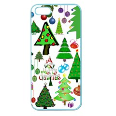 Oh Christmas Tree Apple Seamless Iphone 5 Case (color)