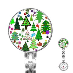Oh Christmas Tree Stainless Steel Nurses Watch