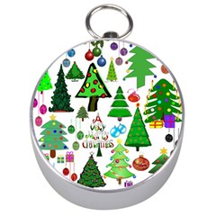 Oh Christmas Tree Silver Compass