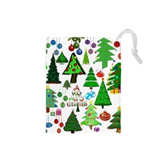 Oh Christmas Tree Drawstring Pouch (small)