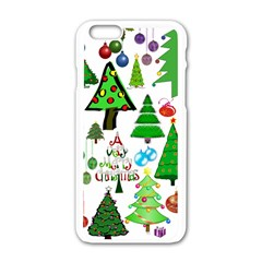 Oh Christmas Tree Apple iPhone 6 White Enamel Case