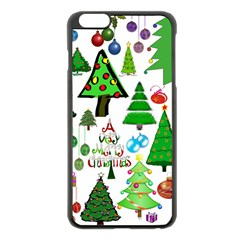 Oh Christmas Tree Apple iPhone 6 Plus Black Enamel Case