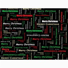Merry Christmas Typography Art Canvas 12  x 16  (Unframed)