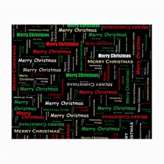 Merry Christmas Typography Art Glasses Cloth (small, Two Sided)