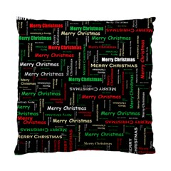Merry Christmas Typography Art Cushion Case (two Sided)