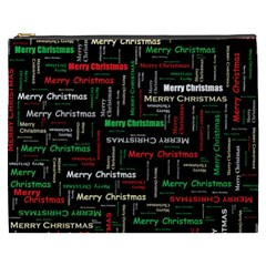 Merry Christmas Typography Art Cosmetic Bag (xxxl)