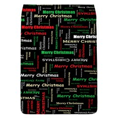 Merry Christmas Typography Art Removable Flap Cover (Small)