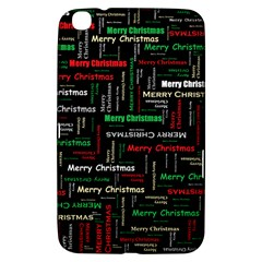 Merry Christmas Typography Art Samsung Galaxy Tab 3 (8 ) T3100 Hardshell Case
