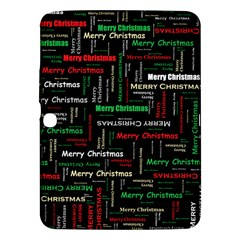 Merry Christmas Typography Art Samsung Galaxy Tab 3 (10.1 ) P5200 Hardshell Case