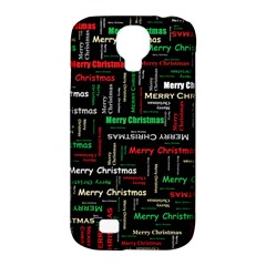 Merry Christmas Typography Art Samsung Galaxy S4 Classic Hardshell Case (pc+silicone)