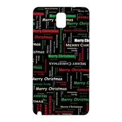 Merry Christmas Typography Art Samsung Galaxy Note 3 N9005 Hardshell Back Case