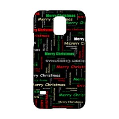 Merry Christmas Typography Art Samsung Galaxy S5 Hardshell Case
