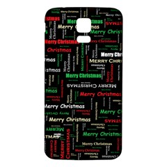 Merry Christmas Typography Art Samsung Galaxy S5 Back Case (white)