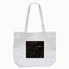 Merry Christmas Typography Art Tote Bag (White)