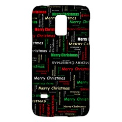 Merry Christmas Typography Art Samsung Galaxy S5 Mini Hardshell Case