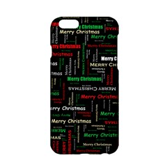 Merry Christmas Typography Art Apple iPhone 6 Hardshell Case