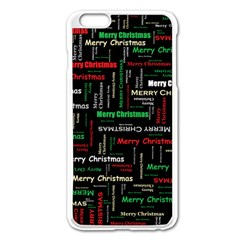 Merry Christmas Typography Art Apple iPhone 6 Plus Enamel White Case