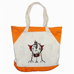 Alien Robot Hand Draw Illustration Accent Tote Bag