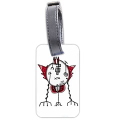 Alien Robot Hand Draw Illustration Luggage Tag (One Side)