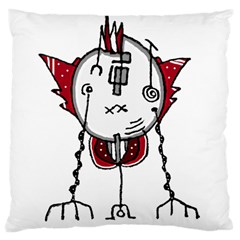 Alien Robot Hand Draw Illustration Large Cushion Case (two Sided)