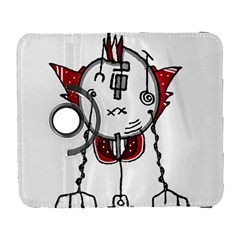 Alien Robot Hand Draw Illustration Samsung Galaxy S  III Flip 360 Case