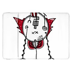 Alien Robot Hand Draw Illustration Samsung Galaxy Tab 8.9  P7300 Flip Case