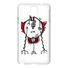Alien Robot Hand Draw Illustration Samsung Galaxy Note 3 N9005 Case (white)