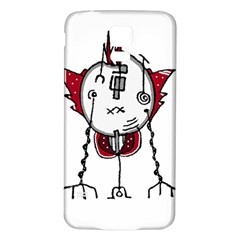 Alien Robot Hand Draw Illustration Samsung Galaxy S5 Back Case (White)
