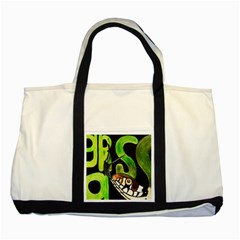 GRASS SNAKE Two Toned Tote Bag