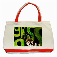 GRASS SNAKE Classic Tote Bag (Red)