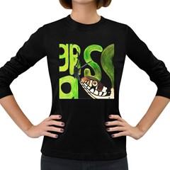 GRASS SNAKE Women s Long Sleeve T-shirt (Dark Colored)