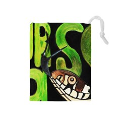 GRASS SNAKE Drawstring Pouch (Medium)