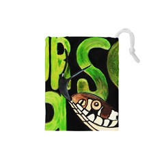 Grass Snake Drawstring Pouch (Small)