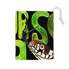 Grass Snake Drawstring Pouch (Large)