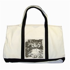 KITTEN Two Toned Tote Bag