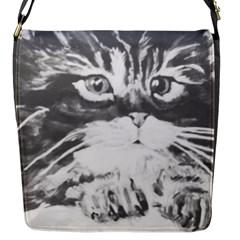 Kitten Flap Closure Messenger Bag (small)