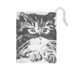 Kitten Drawstring Pouch (large)