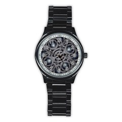 Mystic Arabesque Sport Metal Watch (Black)
