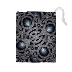 Mystic Arabesque Drawstring Pouch (large)