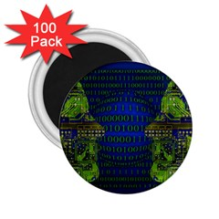 Binary Communication 2 25  Button Magnet (100 Pack)