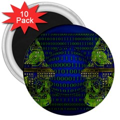 Binary Communication 3  Button Magnet (10 Pack)