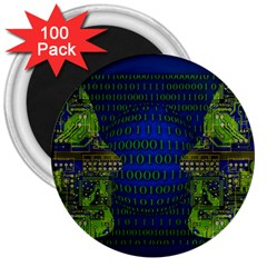 Binary Communication 3  Button Magnet (100 pack)