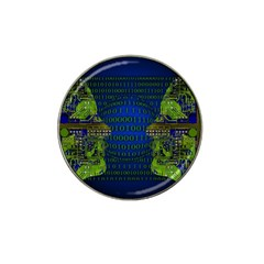 Binary Communication Golf Ball Marker 4 Pack (for Hat Clip)